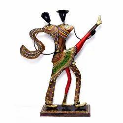 Iron Handmade Handpainted Couple Statue Showpiece Home Decor Decorative Item