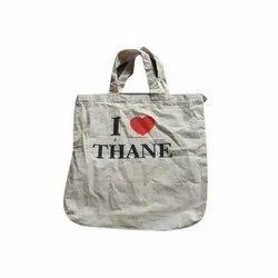 Loop Handle Designer Cotton Bag, Capacity: 7.5 Kg