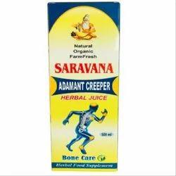 Saravana Adamant Creeper Herbal Juice, For Bone Care, Form: Liquid
