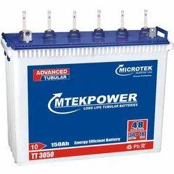 Microtek Mtekpower 150AH Inverter Battery, Capacity: 150 Ah, Model Name/Number: Tt 3050