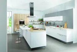 Wooden U Shape Kitchen Designing Service FARIDABAD, Warranty: 1-5 Years