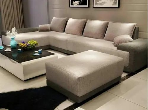 Wooden Modern L Shape Sofa Seating