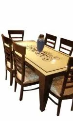 Six Seater Dining Set with Top Marble