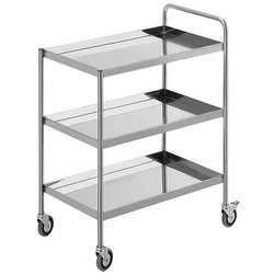 3 Shelves Material Handling Trolleys