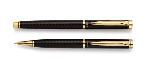 Metal Black Ball Pen & Metal Roller Pen Set