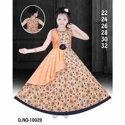 Kids Printed Designer Gown
