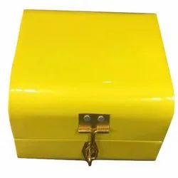 Yellow Rectangle Decorative Wooden Box