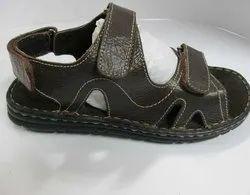 Men's Black Comfort Leather Sandals
