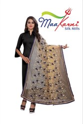 Net Embroidery Dupatta