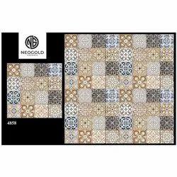 4858 Porcelain Highlighter Tiles, Thickness: 10 - 12 mm, Size: Medium