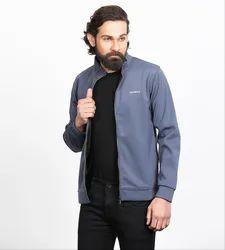 Full Sleeve Besimple Men's Grey Jackets, Size: XXL