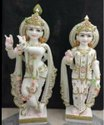 White Radha Krishna Marble Statue