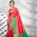 Fashionable Party Wear Silk Saree