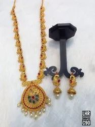 South Indian Style Matte Finish Jewellery Set