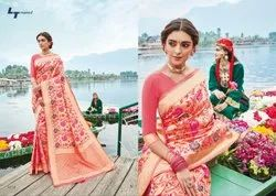 Printed Pure Chiffon Ladies Chiffon Sarees, With Blouse Piece