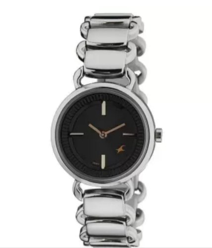 3cd769f83 Silver Fastrack Analog Black Dial Women  s Watch