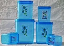 UKP Plain Square Plastic Dabba Container for Household
