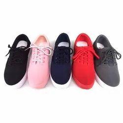 Casual Wear Ladies Canvas Shoes, Size: 6-11