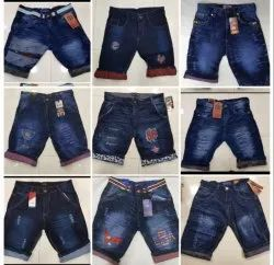 Men Denim Customized Skinny Ripped Jeans Shorts