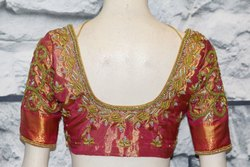 Thread Work Embroidery Blouse Designs