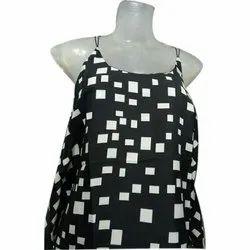 Black, White Rayon Black & White Party Wear Ladies Top, Packaging Type: Bag