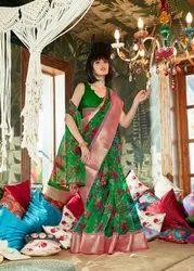 Saree, Saree Length: 6 m (With Blouse Piece)
