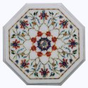White Beautiful Marble Inlay Table Tops