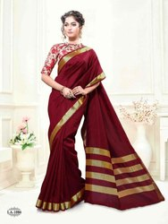 Silk India Party wear Dazzling Art Silk Saree, Machine Made, 5.5 m (separate blouse piece)