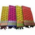 Printed South Cotton Fabrics Saree