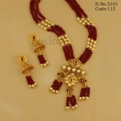 Traditional Antique Colour Beads Pendant Set