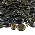 Natural Black Tiger Eye Plain Cabochon in Wholesale Assortment Gemstone