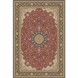 Rectangular Designer Printed Hand Knotted Silk Carpet, Size: 5 X 8 feet
