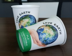 12oz (360ML) PLA Coated Biodegradable Paper Cups 100% Compostable