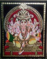 Pancha Muga Vinayagar Tanjore Painting
