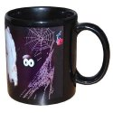 Black Ceramic Printed Coffee Mug, Packaging Type: Box