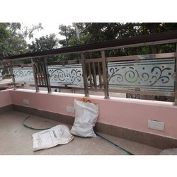Glass Stainless Steel Balcony Railing, For Home