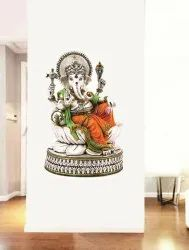 3D Stickers Multicolor Lord Ganesha Wall Sticker, For Living Room, Packaging Size: Compact
