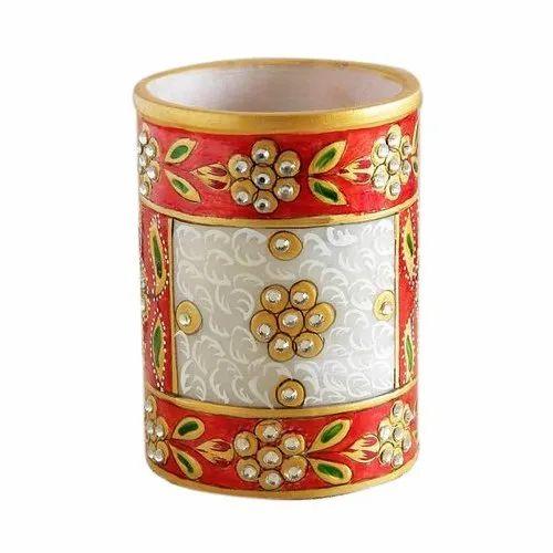 Handicraft Marble Pen Stand