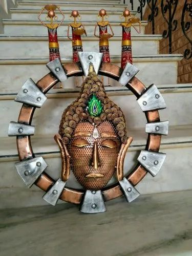 Craftkriti Buddha 18 inch LED Wall Decor