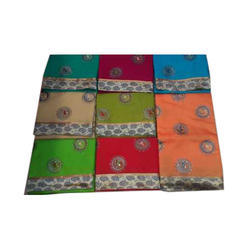 Embroidered Silk Fancy Saree with Blouse Piece, Saree Length: 5.5 m
