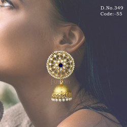 Traditional Kundan Jhumka Earring