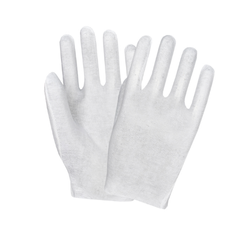 White Hosiery Hand Gloves