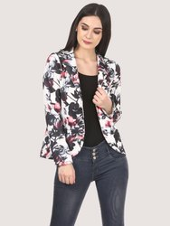 Saadgi Floral Printed High Quality Scuba Blazers
