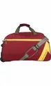 Red Polyester Aristocrat Dawn Duffle Trolley Bag