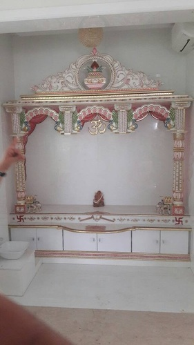 White Home Marble Temple For Pooja Room
