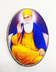 Guru Nanak Color Silver Coin 10 gm
