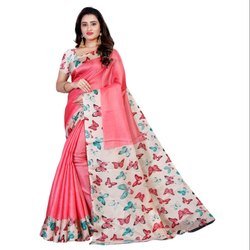 Party Wear bhagalpuri sarees Bhagalpuri Silk Saree, Size: 5.5, Machine Made