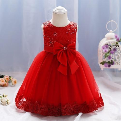 6daad767767d Red Embroidery Kids Baby Party Wear Frock, Rs 799 /piece | ID ...