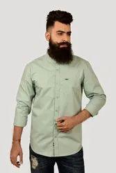 Full Casual Wear Aqua Plain Shirt