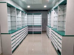 Fharmacy metal storage rack